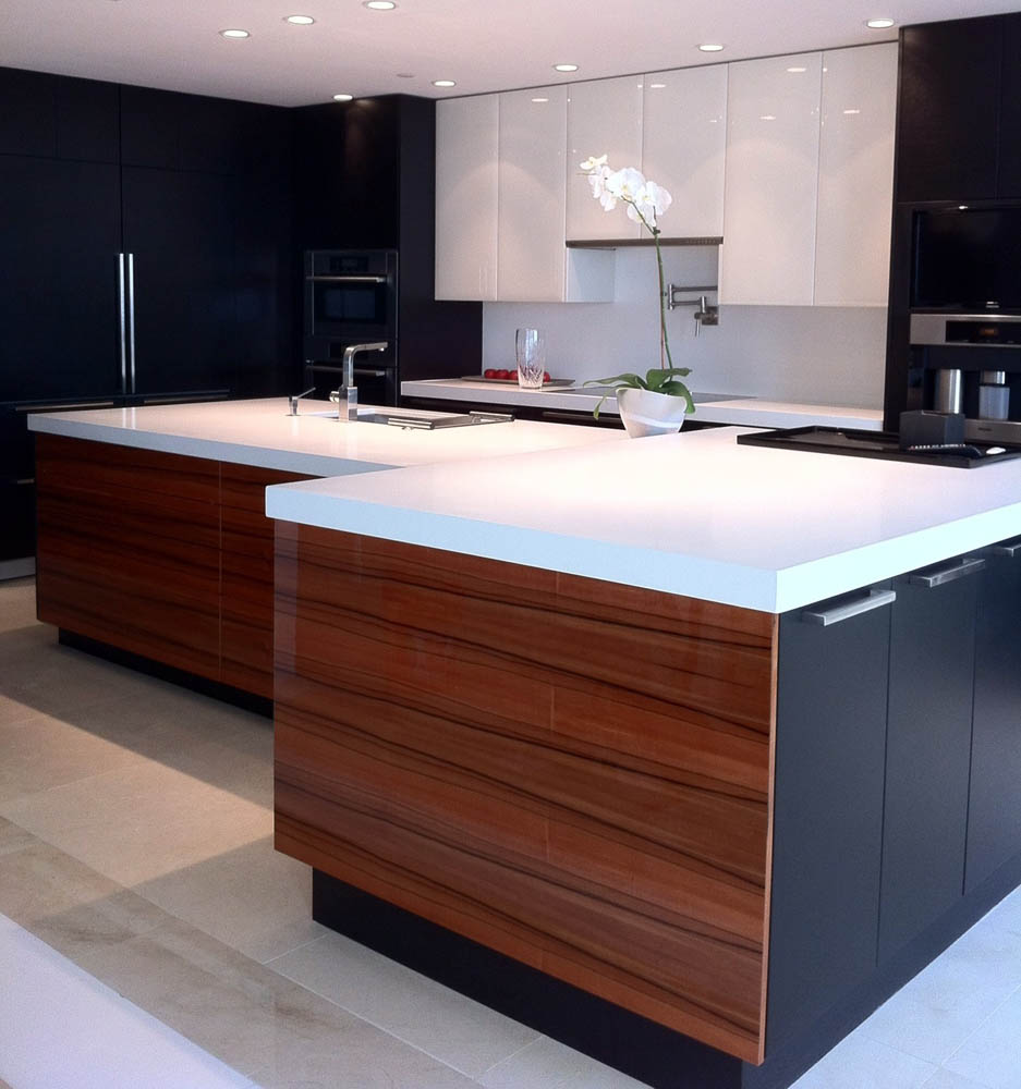 blog ash kitchen cabinets Contemporary Kitchen High gloss white and carob ash in perimeter American apple and carob