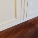 Wood Floor Flush with Cabinets
